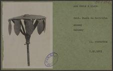 Asé dédié à Glélé. Coll. du Musée du Centrifan, Abomey