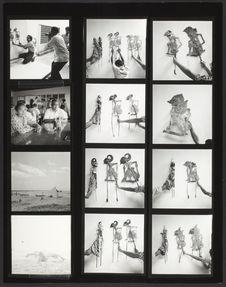 Planche-contact de 12 vues concernant les marionnettes du Wayang