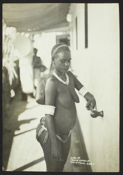 Girl of Vella Lavella - Solomons