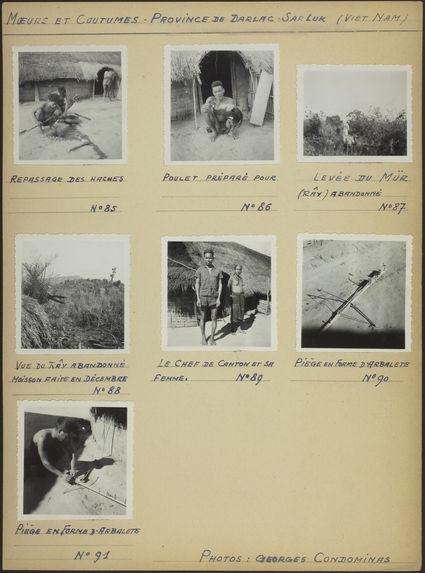 """Planche de photographies intitulé : """"Mœurs et coutumes&quot"""