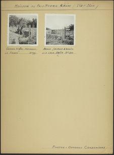 """Planche de photographies intitulé : """"Moisson au pays Muong Rlâm&quot"""
