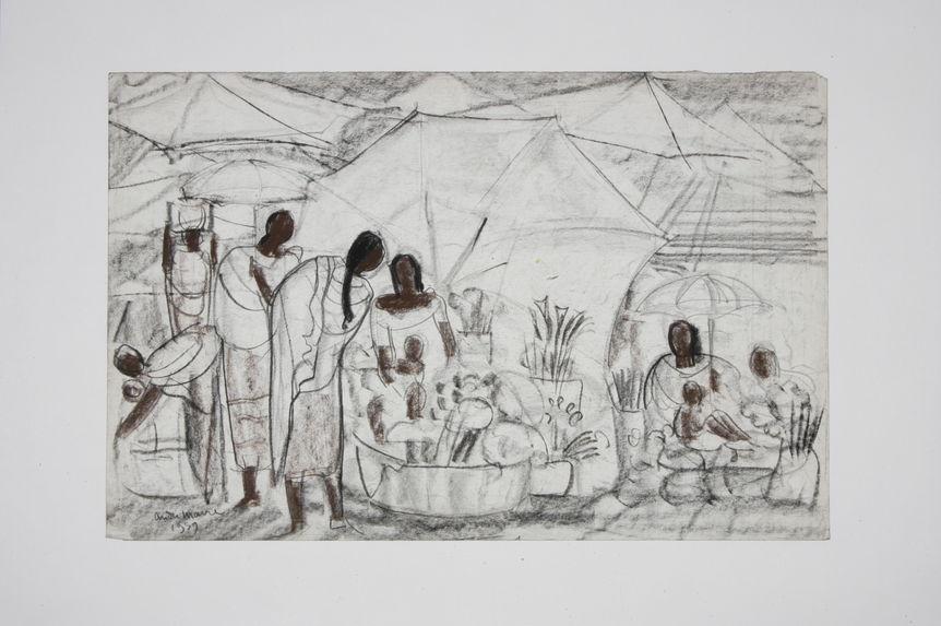 Sans titre [Scène de marché à Madagascar]