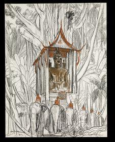 Temple dans la forêt