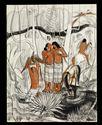 Groupe de femmes au bord d'une rivière