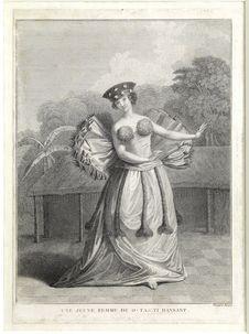 Une jeune femme de O-Tahiti dansant
