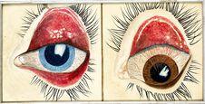 Peinture d'yeux