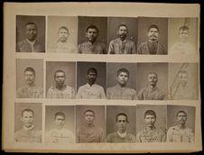 Planche de photographies de détenus du Pénitencier de Guadalajara