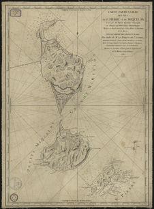 Carte particulière des iles de Saint-Pierre et Miquelon