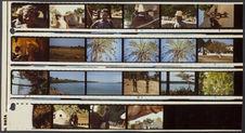Planche contact de 21 vues ayant comme sujet des portraits, de l'architecture,...