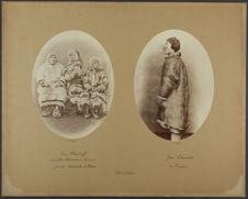Ivan Khanikoff et ses filles Alexandra et Katiana. Famille Samoïède de Mezen