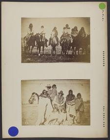 Deux groupes d'indiens Shoshone.