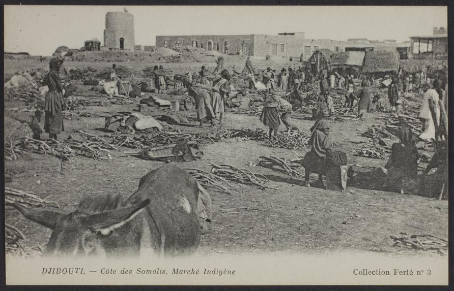 Djibouti - Côte des somalis. Marché Indigène