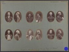 Sans titre [Portraits d'hommes en buste de face et de profil]