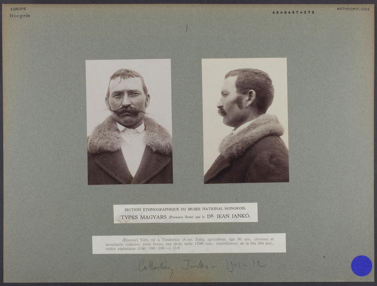 Section ethnographique du musée national hongrois : Types Magyars