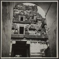 Tanjore. L'entrée du Temple vue de la voûte des remparts
