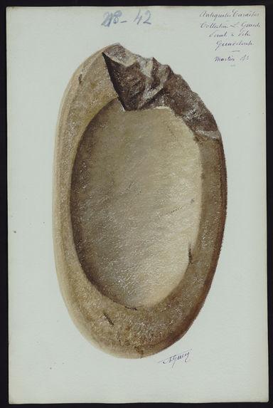 Antiquités Caraïbes. Collection L. Guesde. Pointe à Pitre. Guadeloupe. Mortier R°