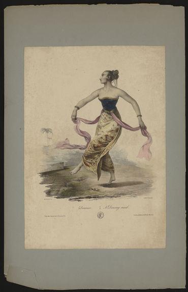 Danseuse. A dancing maid