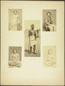 Malgache, écrivain de la marine à Nossi-Bé. Photographié à Saint-Denis (Réunion)