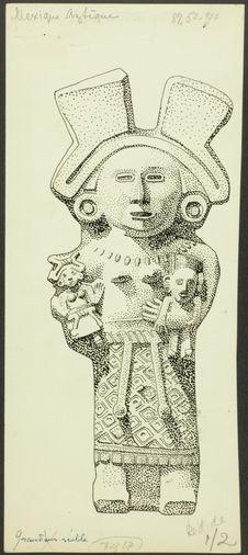 Fig. 17. Mexique. Aztèque. Statue de la déesse Xochiquetzal
