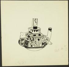Fig. 21. Mexique. Huaxtèque. Vase en forme de samovar