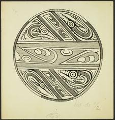 Fig. 35. Panama, Coclé ancien. Motifs conventionalisés de poissons et de griffes