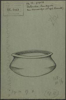 Fig. 42. Colombie, San Agustin. Vase tronconique