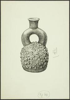 Fig. 46. Pérou, Cupisnique. Vase à anse en étrier