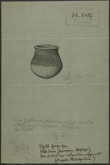 Fig. 56. Etats-Unis (Nouveau-Mexique). Vase à décor en colombins apparents