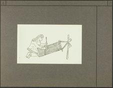 Dessin publié dans l'ouvrage Coleccion de Mendoza o Codice Mendocino. Détail de...