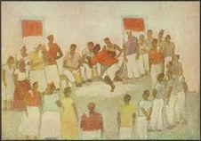 Xangô possuido do Espirito Divino [homme dansant entouré d'autres personnes]