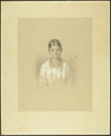 Leona Cacao. 16 ans. 1/4 nature. Indienne de la Haute Vera Paz. (Rép. du...