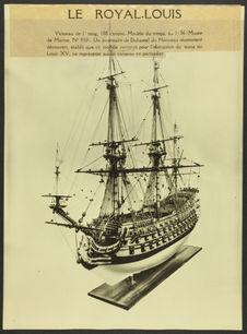 Le Royal-Louis [maquette de voilier]