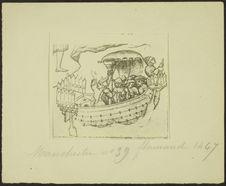 Rames gouvernail de proue et de poupe [illustration d'un manuscrit]