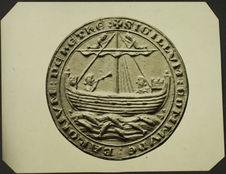 Ville de Hythe. XIIe-XIIIe siècle [sceau représentant un voilier]