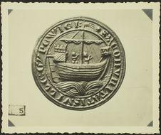 Ipswich. XIIIe siècle [sceau ou monnaie représentant un voilier]