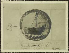 Harderwick. 1280 [sceau ou monnaie représentant un voilier]