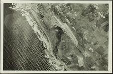 Vue aérienne de la côte atlantique à l'ouest de Casablanca