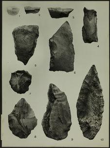 Recherches préhistoriques dans la région de Boko-Songho. Planche III [industrie...