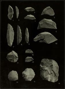 Recherches préhistoriques dans la région de Boko-Songho. Planche XVI [industrie...
