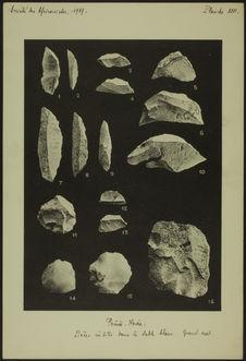 Société des Africanistes, 1939. Planche XVII. Pointe-Noire [industrie lithique]