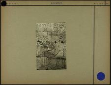 Sans titre [bas-relief avec hiéroglyphes et deux personnages de profil]