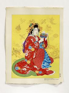 Daikoku, Dieu de la richesse, personnifié par une courtisane du Shimabara