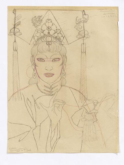 """Idée pour la """"Princesse aux Perles"""". S.A.I. La Pr. L.P. Le petit sac. Dame mandchuse"""