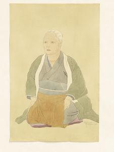 Portrait de la vieille Imaizumi riye