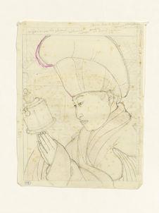 Lama mongol et son moulin