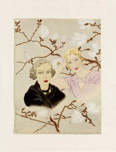 Sous les magnolias. Mme Daphné Shathin et Mme Frances Holland