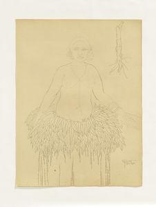Femme de Yap. Village de Rull