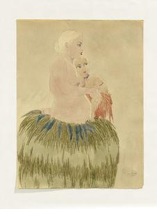 Femme de Yap et sa fille