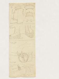 Gilet homme mongol, toques mongoles. Souliers femme Mongolie. Charriot bras...