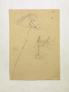 Cheval mongol. Selle mongole. Fouet cravache mongole. (XV)